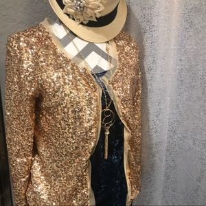 Gold sequence jacket